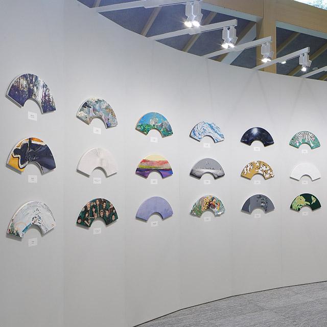 紫幹翆葉 扇作品